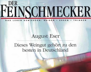 The <Feinschmecker> magazine counts us to the best wineries in Germany.